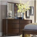 Homelegance 2135 Waved-Front Dresser with Landscape Mirror