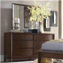 Homelegance (Clackamas Only) 2135 Waved-Front Dresser with Landscape Mirror