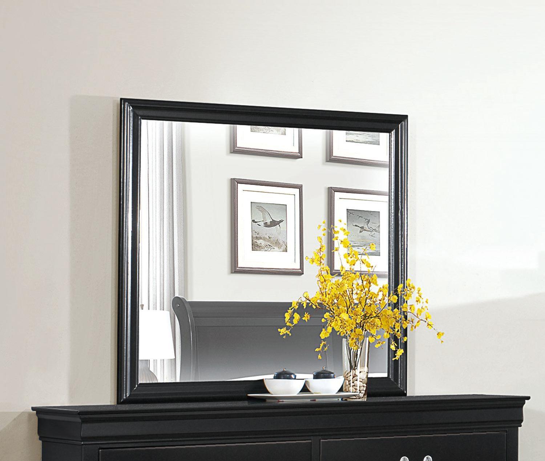 Homelegance Mayville Black Mirror - Item Number: 2147BK-6