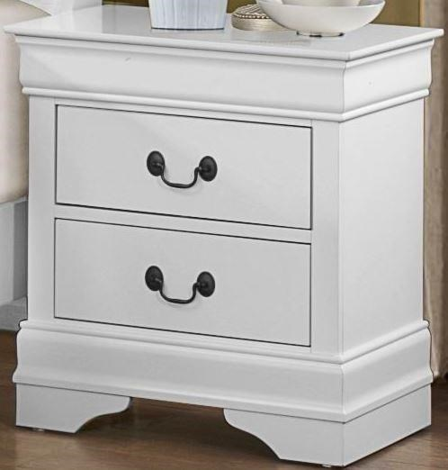 Homelegance Mayville White Nightstand - Item Number: 2147W-4