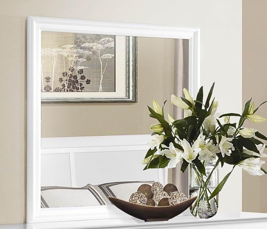 Homelegance Mayville White Mirror - Item Number: 2147W-6