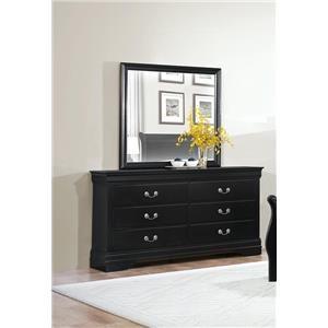 Homelegance Mayville Black Dresser & Mirror