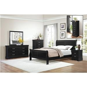 Queen Black Bedroom Group