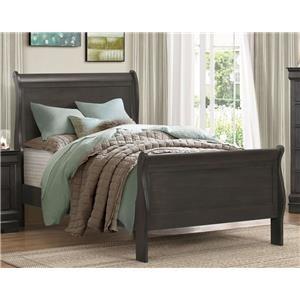 Full Gray Bed