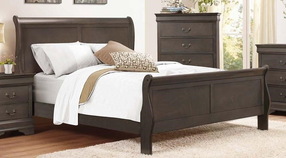 Homelegance Mayville Queen Gray Bed - Item Number: GRP-2147-GRAYQNBED