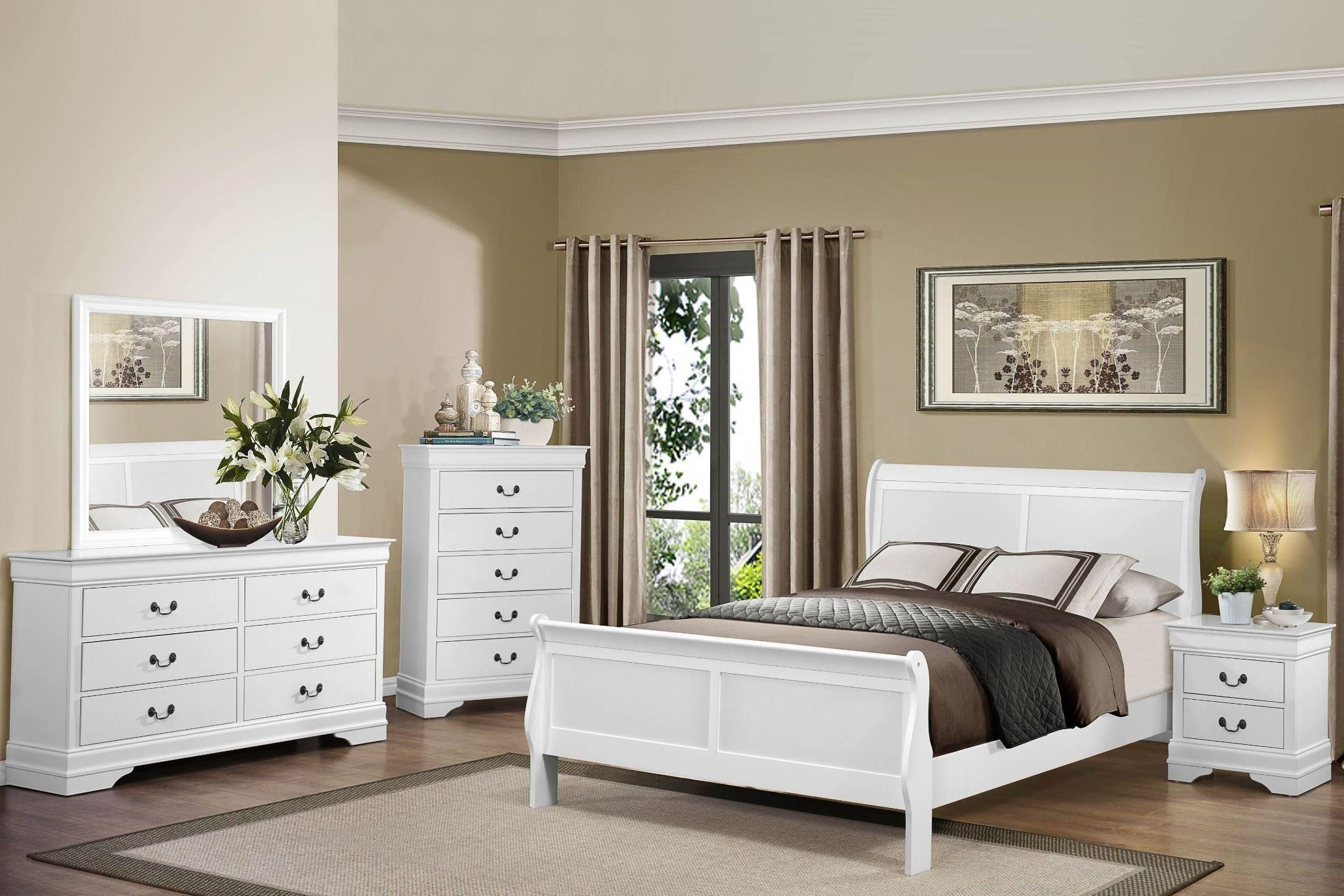 Homelegance Mayville Queen White Bedroom Group - Item Number: GRP-2147-WHITE-QUEENSET