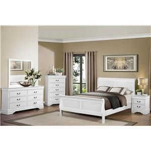 Queen White Bedroom Group
