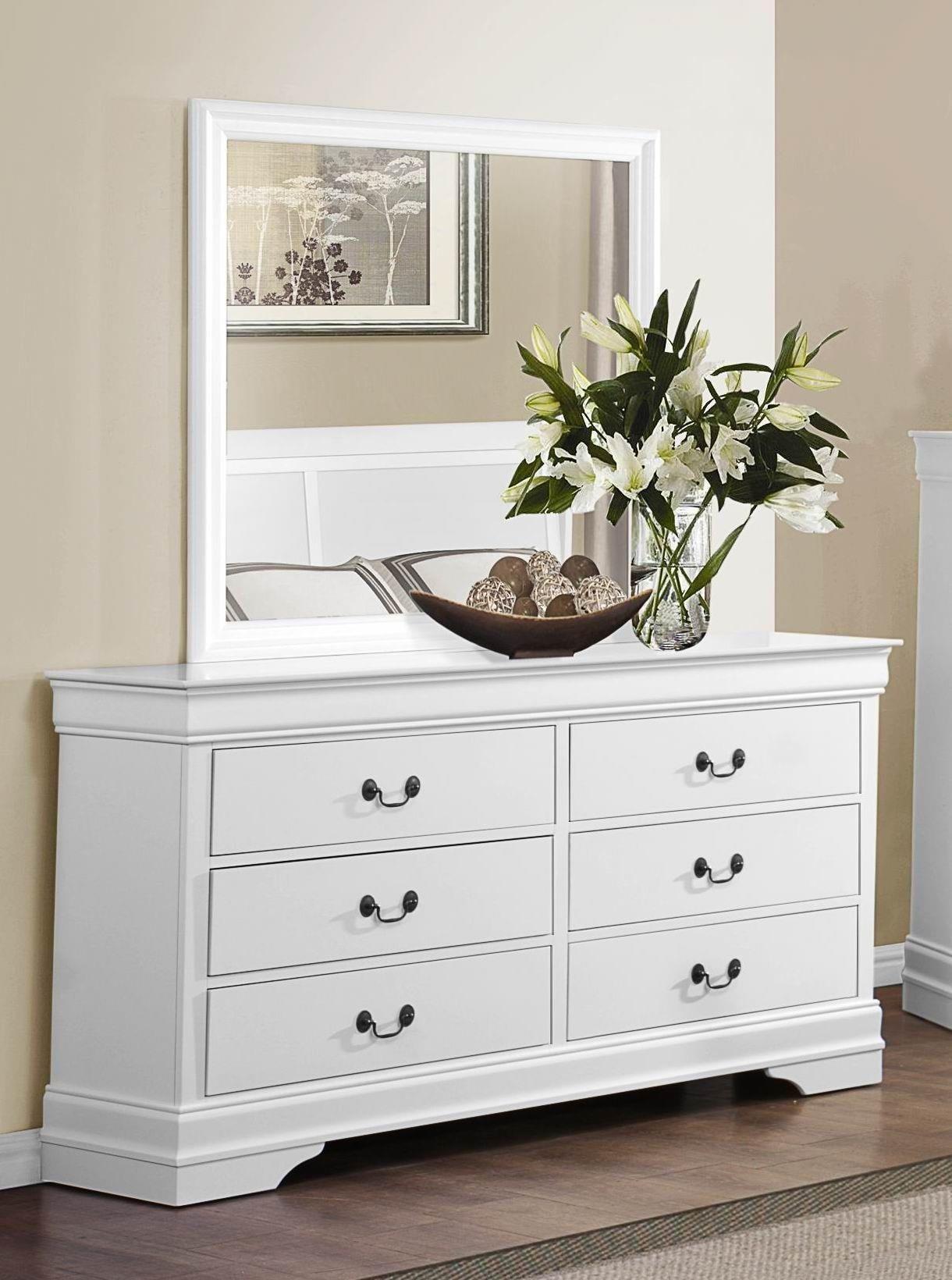 Homelegance Mayville White Dresser & Mirror - Item Number: GRP-2147-WHITED M