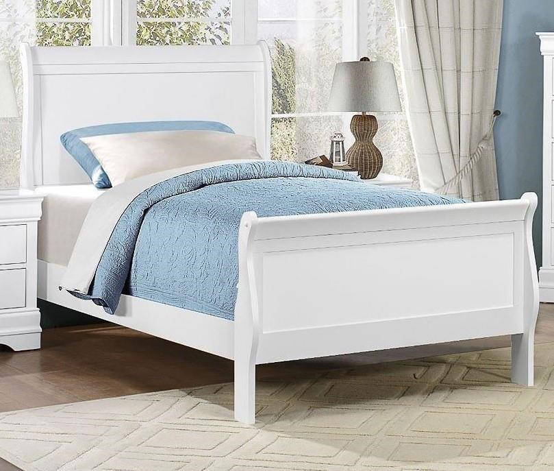 Full White Bed