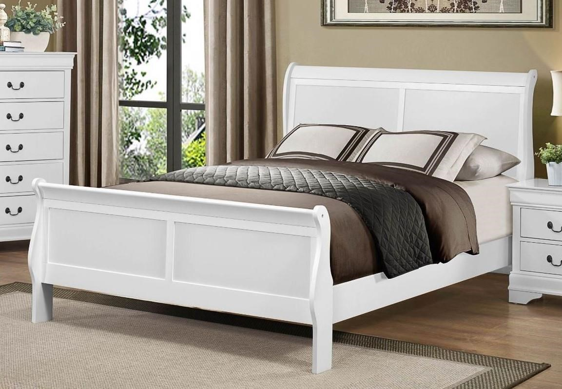 Homelegance Mayville Queen White Bed - Item Number: GRP-2147-WHITEQNBED