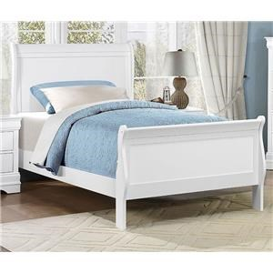 Homelegance Mayville Twin White Bed