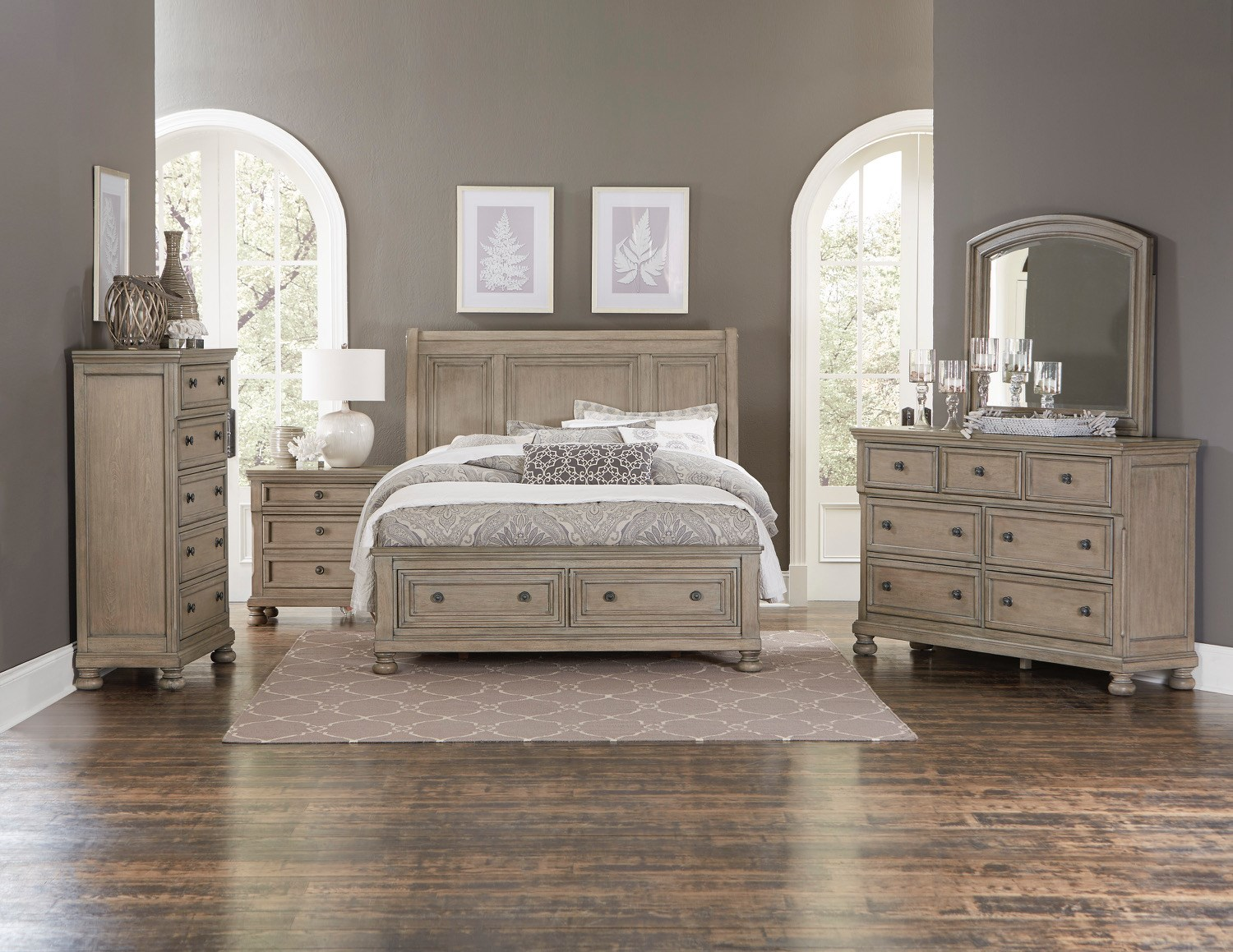 Homelegance 2259GY Queen Bedroom Group - Item Number: 2259GY Q Bedroom Group 1