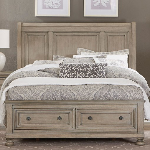 Homelegance 2259GY Queen Storage Bed - Item Number: 2259GY-1+2+3