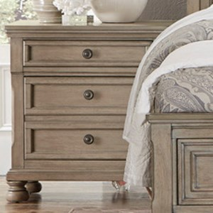 Homelegance 2259GY Relaxed Vintage Night Stand