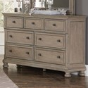 Homelegance 2259GY Relaxed Vintage Dresser with Hidden Drawer