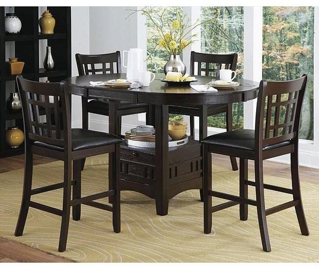 2423 Junipero Pub Table x 4 Stools by Homelegance at Furniture Fair - North Carolina