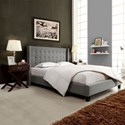 Homelegance (Clackamas Only) 315B Grey Contemporary Queen Upholstered Wingback Headboard with Tufting