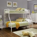 Homelegance 339TF Twin over Full Bunk Bed - Item Number: 339TF-1WH