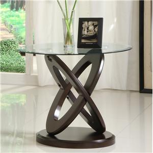 Homelegance 3401W Round End Table