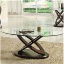 Homelegance Furniture 3401W Oval Cocktail Table - Item Number: 3401W-30+30G
