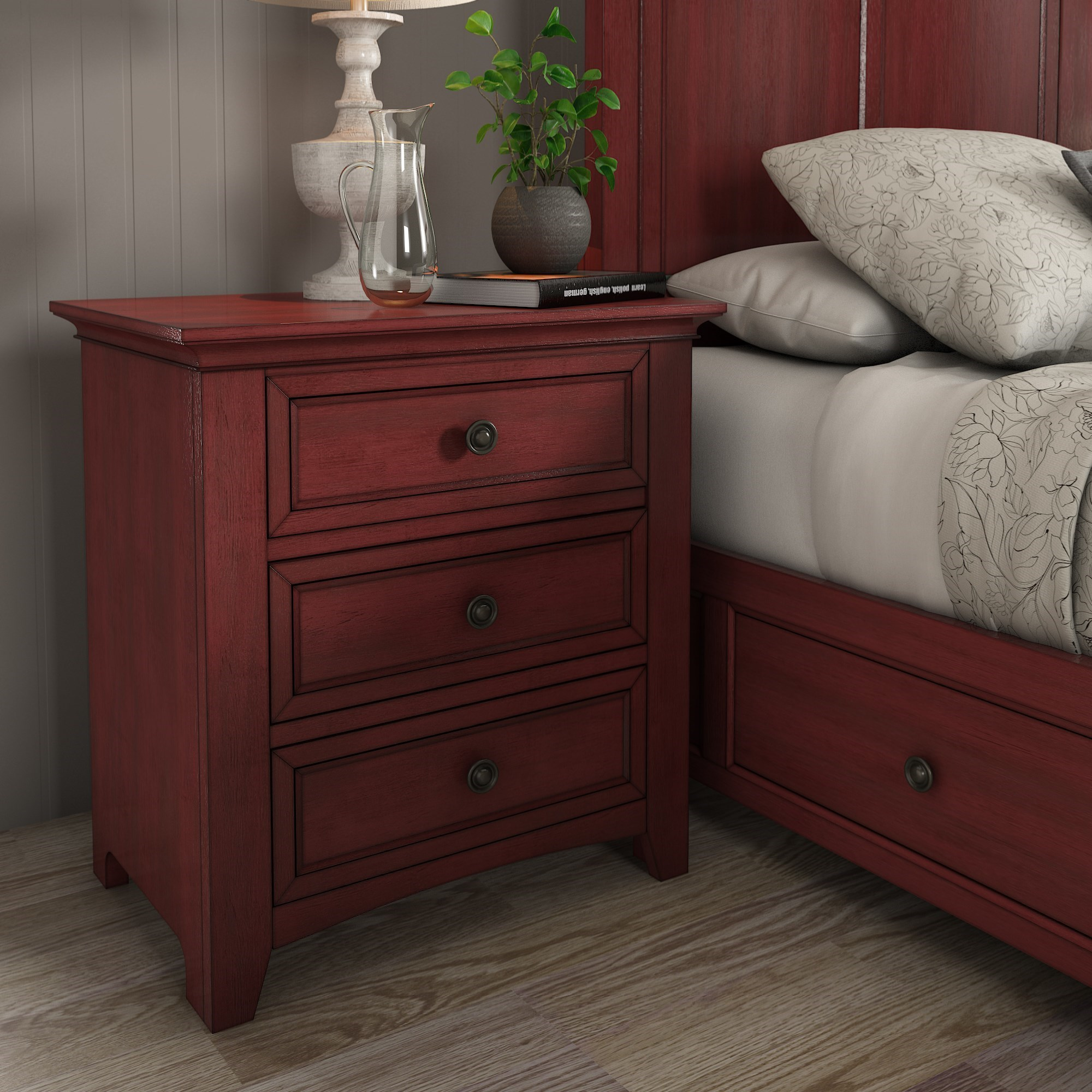 Homelegance 395 Night Stand - Item Number: 395B-4RD