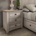 Homelegance 395 Night Stand - Item Number: 395B-4WH