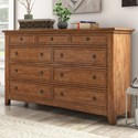Homelegance 395 Drawer Dresser - Item Number: 395B-5AK