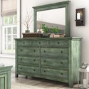 Homelegance 395 Dresser and Mirror Set - Item Number: 395B-5AQ+6AQ