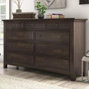 Homelegance 395 Drawer Dresser - Item Number: 395B-5BK
