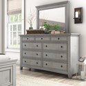 Homelegance 395 Dresser and Mirror Set - Item Number: 395B-5GA+6GA