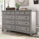 Homelegance 395 Drawer Dresser - Item Number: 395B-5GA