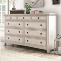 Homelegance 395 Drawer Dresser - Item Number: 395B-5WH