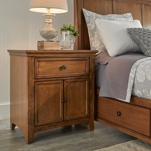 395 Cupboard Night Stand with USB Ports by Homelegance