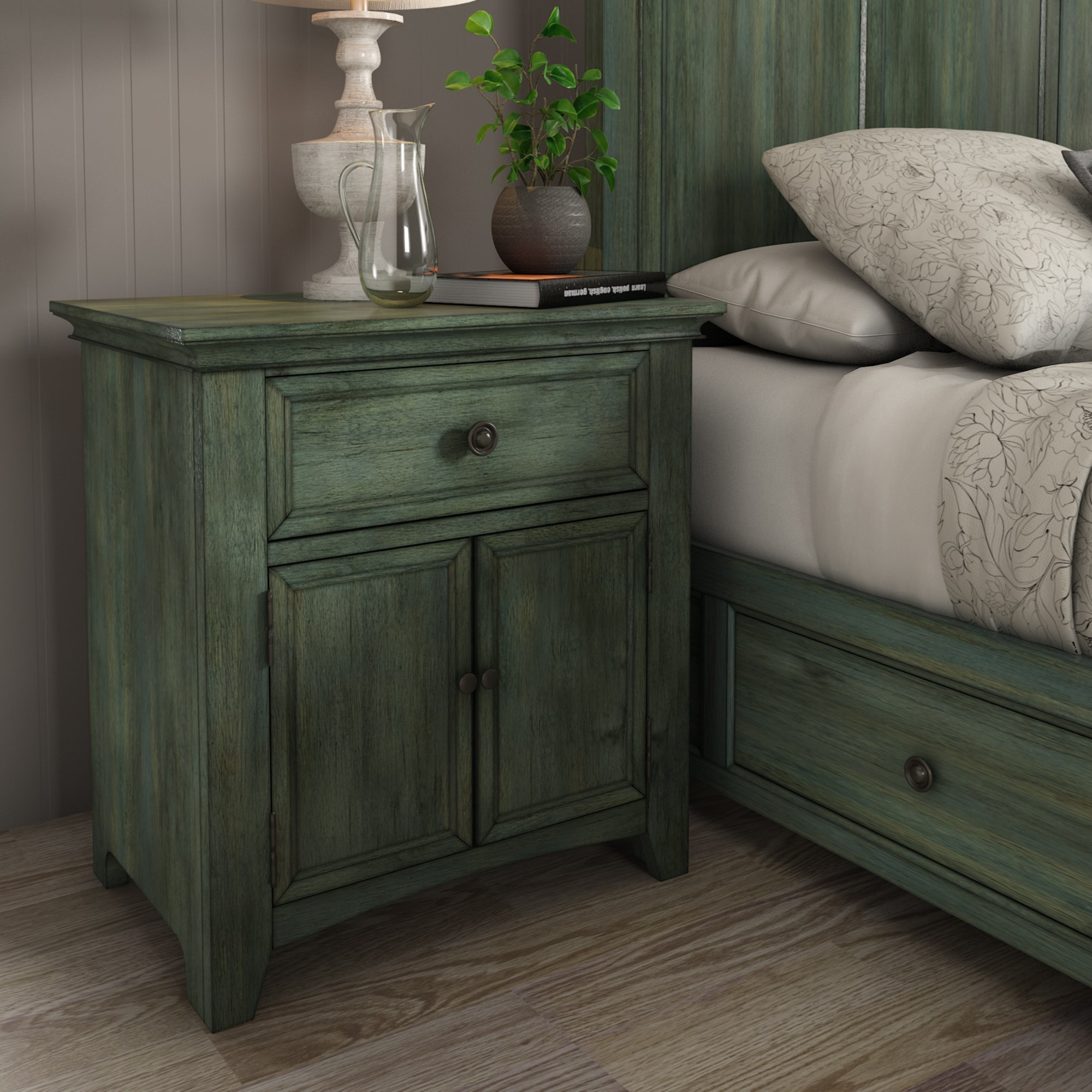 Homelegance 395 Night Stand - Item Number: 395B-C4AQ