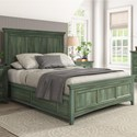 Homelegance 395 Queen Panel Bed - Item Number: 395BQ-1AQ+2AQ+3AQ