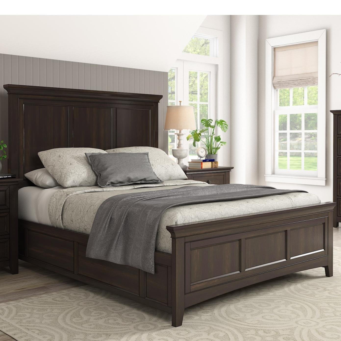 Homelegance 395 Queen Panel Bed - Item Number: 395BQ-1BK+2BK+3BK