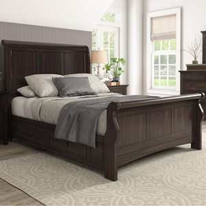 Homelegance 395 Queen Sleigh Bed