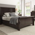 Homelegance 395 Queen Sleigh Bed - Item Number: 395BQ-1BK+2BK+3PLBK+3SRBK