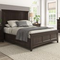 Homelegance 395 Queen Panel Bed  - Item Number: 395BQ-1BK+2BK+3PLBK+3SRBK