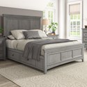 Homelegance 395 Queen Panel Bed  - Item Number: 395BQ-1GA+2GA+3PLGA+3SRGA