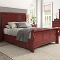 Homelegance 395 Queen Sleigh Bed - Item Number: 395BQ-1RD+2RD+3PLRD+3SRRD