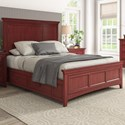 Homelegance 395 Queen Panel Bed  - Item Number: 395BQ-1RD+2RD+3PLRD+3SRRD