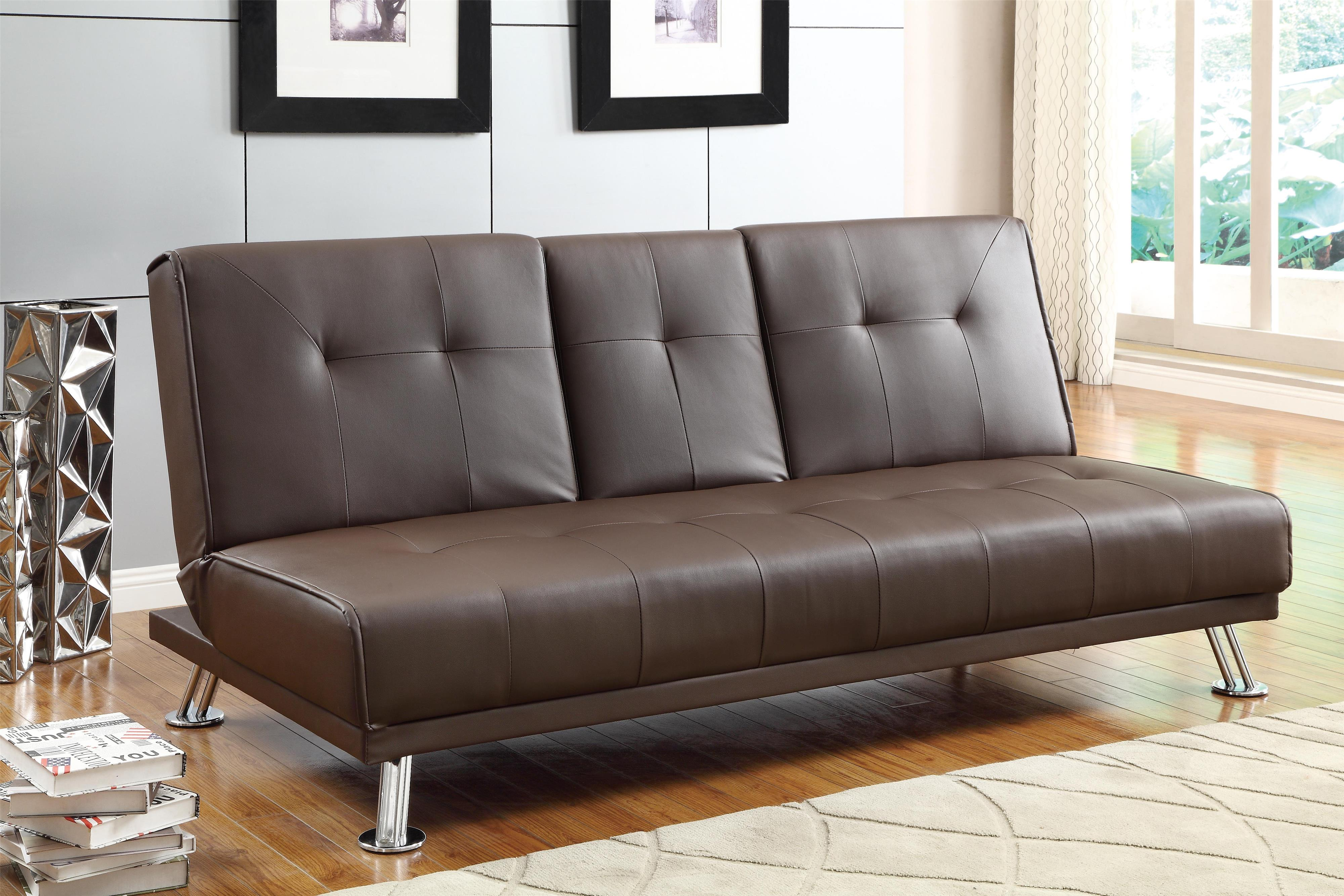 Homelegance 4825 Casual Click Clack Futon With Tufted Back Michael 39 S Furniture Warehouse Futon
