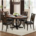 Homelegance 5111 5 Piece Dining Set - Item Number: 5111-66+B+4x5111S