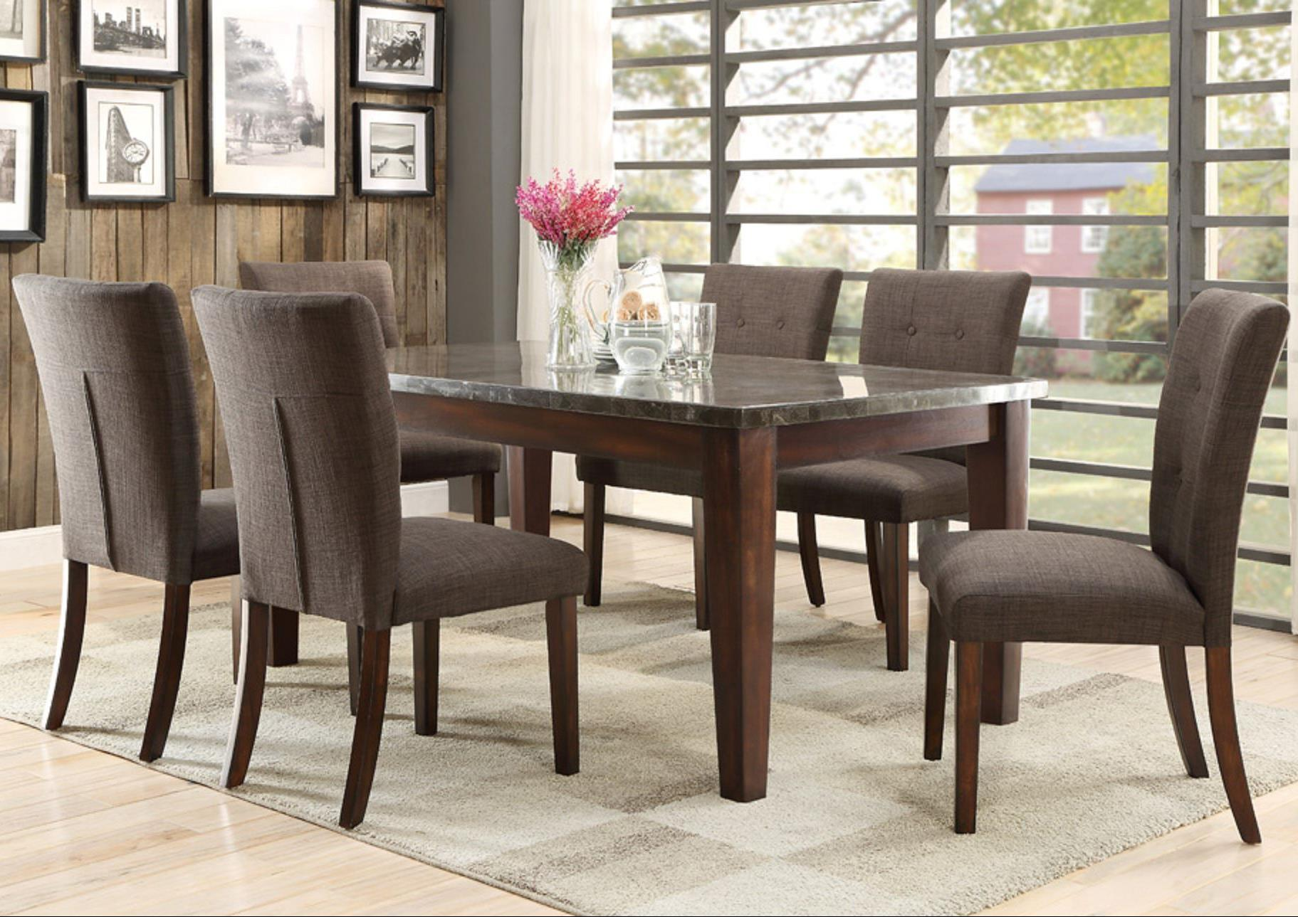 Homelegance Dorritt 7 Piece Dining Set - Item Number: 5281-64+6x5281S