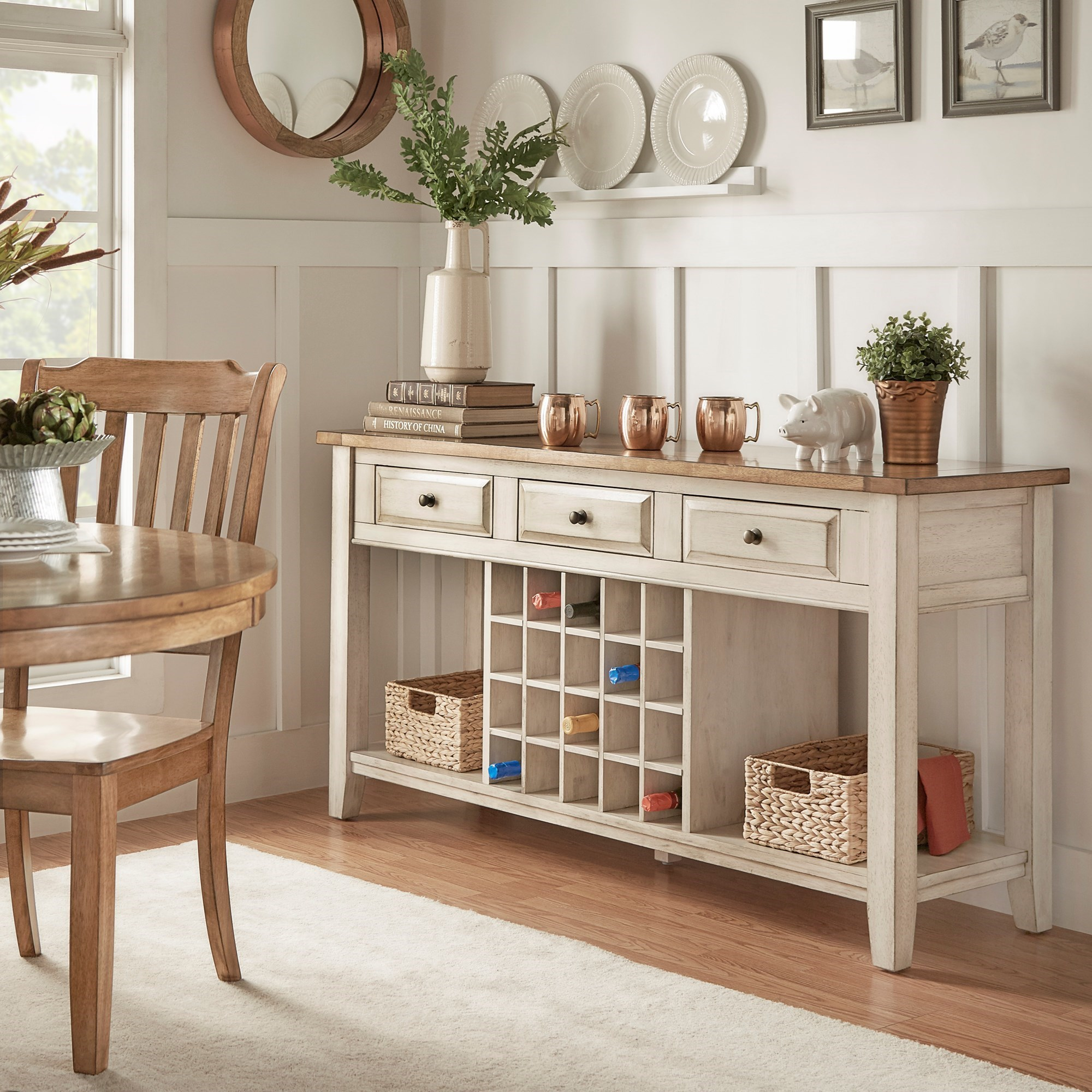 Homelegance 530 Dining Sideboard - Item Number: 530-40BWH