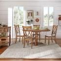 Homelegance 530 Kitchen Pedestal Table - Item Number: 530-60AK+BAK