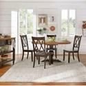 Homelegance 530 Kitchen Pedestal Table - Item Number: 530-60AK+BBK