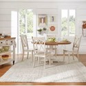Homelegance 530 Kitchen Pedestal Table - Item Number: 530-60AK+BWH