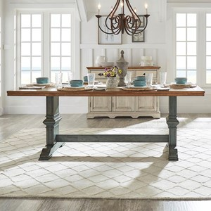 Homelegance 530 Rectangular Dining Table with Trestle Base